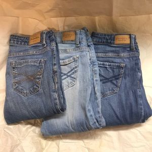 3 Aeropostale Skinny Jeans For $15 Size 00